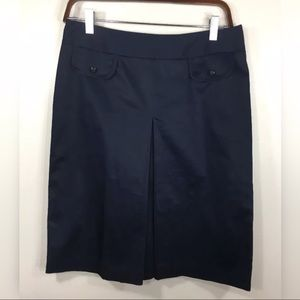 Brooks Brothers Skirt Front Pleat Navy Blue 6